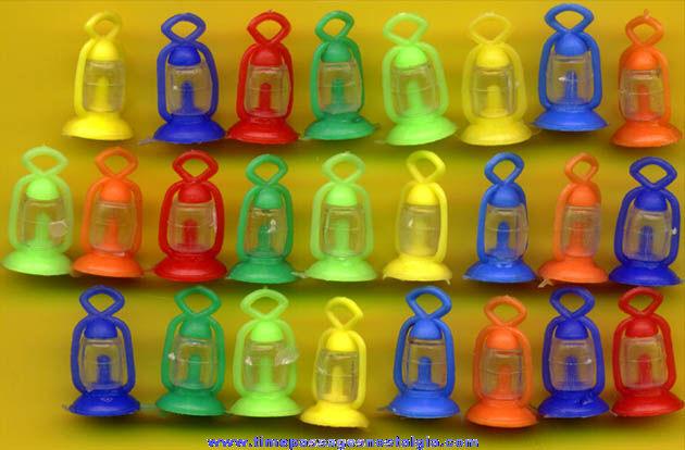 (25) 1960s Gum Ball Machine Prize Railroad Lantern Toy Charms