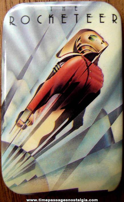 (5) 1991 Walt Disney Rocketeer Movie Promotional Pin Back Buttons