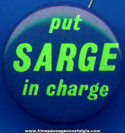 (5) 1966 Francis Sargent Political Campaign Pin Back Buttons