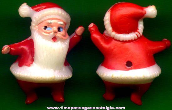 (50) Old Miniature Christmas Santa Claus Character Figures