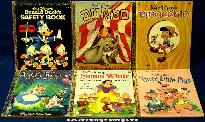 12 old walt disney character little golden books tpnc