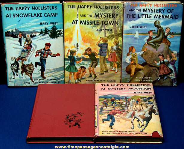 (5) ©1954 - ©1961 Happy Hollisters Childrens Mystery Books