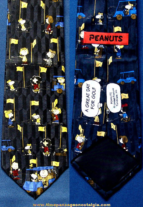 Colorful Charles Schulz Peanuts Cartoon Character Golf Neck Tie