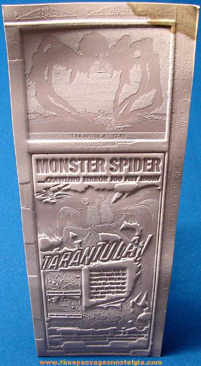 (2) Unused 1955 Tarantula Monster Movie Ad Mat Molds