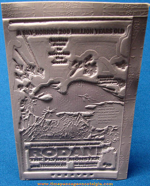 Unused 1956 Rodan The Flying Monster Movie Ad Mat Mold
