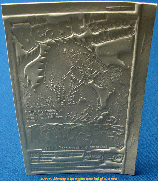 Unused 1953 The Beast From 20,000 Fathoms Movie Ad Mat Mold