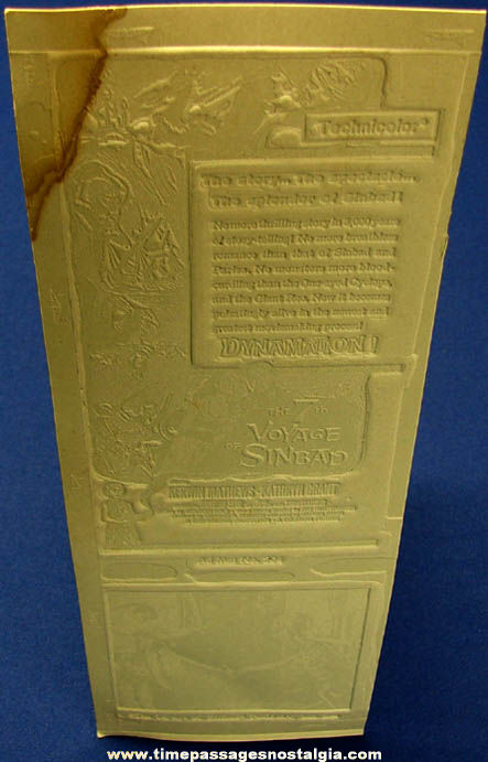 (2) Unused 1958 The 7th Voyage of Sinbad Movie Ad Mat Mold