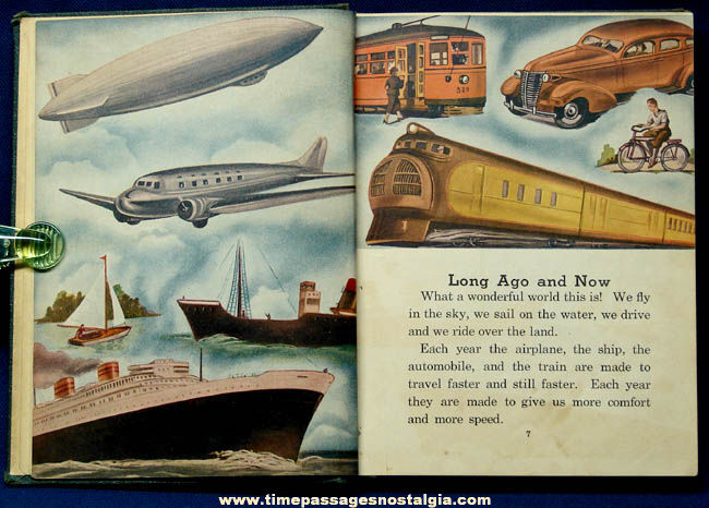 �1939 Story Pictures of Transportation Book