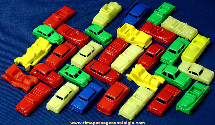 (32) Small Colorful Old MPC Plastic Toy Cars