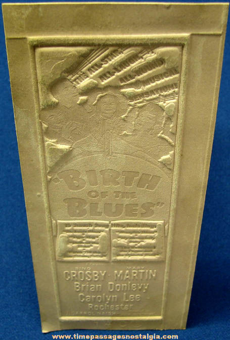 Unused 1941 Birth of The Blues Movie Ad Mat Mold