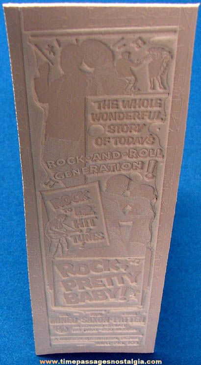 Unused 1956 Rock Pretty Baby Movie Ad Mat Mold
