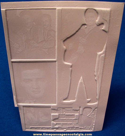 (4) Unused 1958 King Creole Elvis Presley Movie Ad Mat Molds