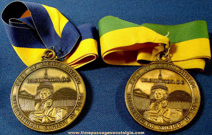 (2) 1990s International Society Of Poets Award Medals