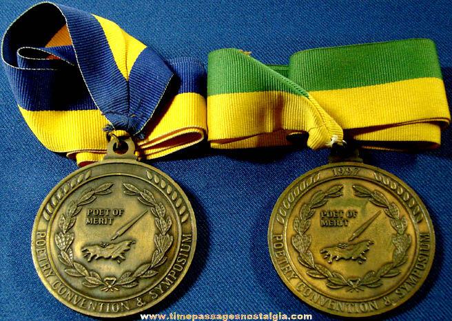 (2) 1990s International Society Of Poets Award Medals
