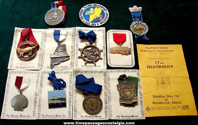 (12) Different Maine Volksmarsch Advertising & Award Items