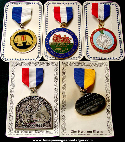 (5) Different Massachusetts Volksmarsch Advertising Award Items
