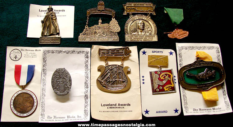 (9) Different Fort Devens Massachusetts Volksmarsch Advertising Award Items