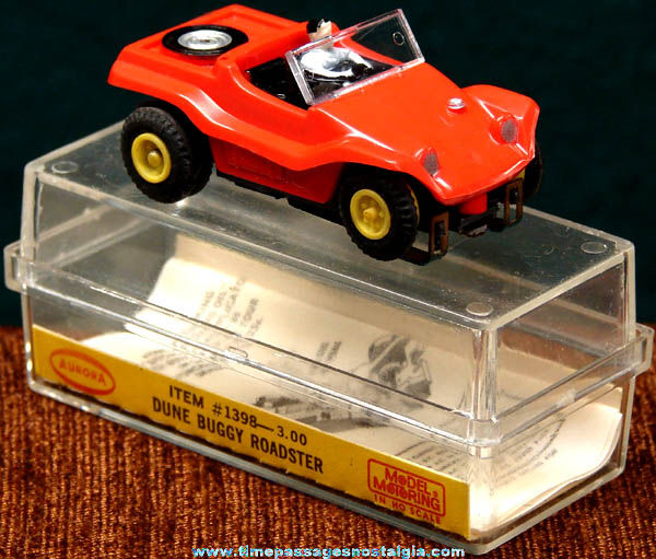 Boxed 1960s Red Dune Buggy Roadster Aurora Slot Car