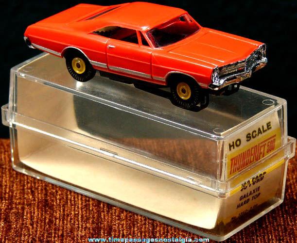 Boxed 1963 Red Ford Galaxie Hard Top Aurora Slot Car