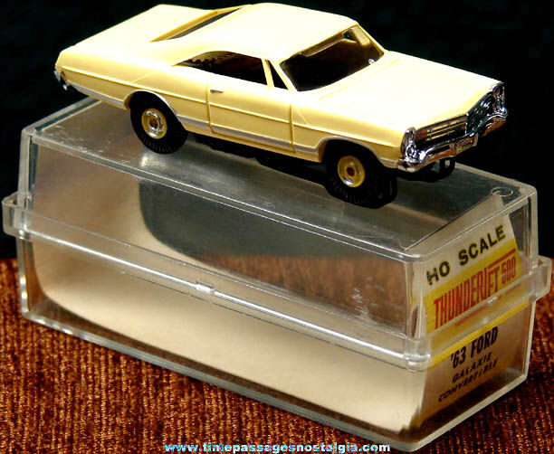 Boxed 1963 Pale Yellow Ford Galaxie Hard Top Aurora Slot Car