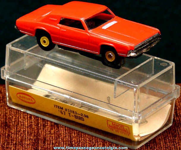 Boxed 1967 Red Ford Thunderbird Aurora Slot Car