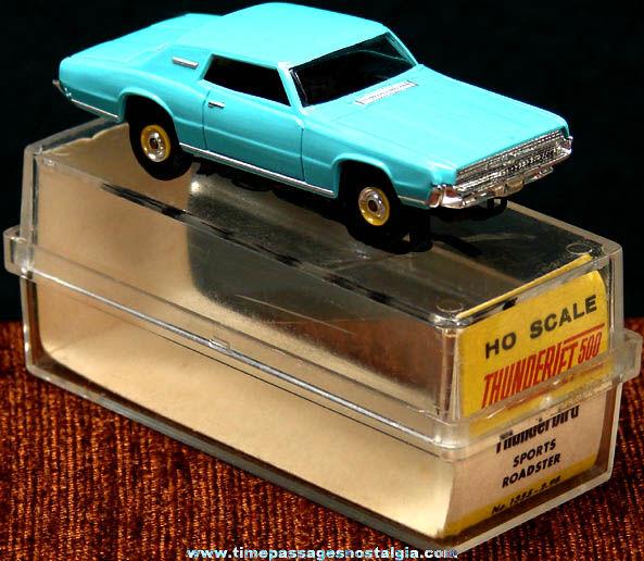 Boxed 1967 Turquoise Blue Ford Thunderbird Aurora Slot Car