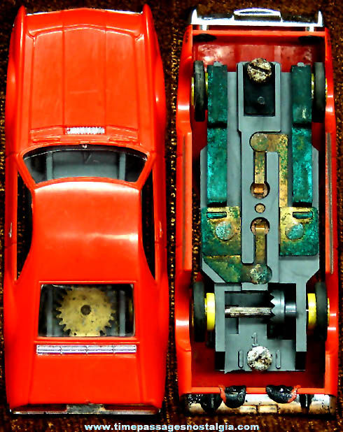 Boxed 1960s Red Oldsmobile Toronado Aurora Slot Car