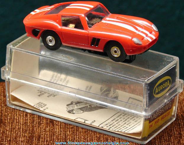 Boxed 1960s Red Ferrari Aurora Slot Car
