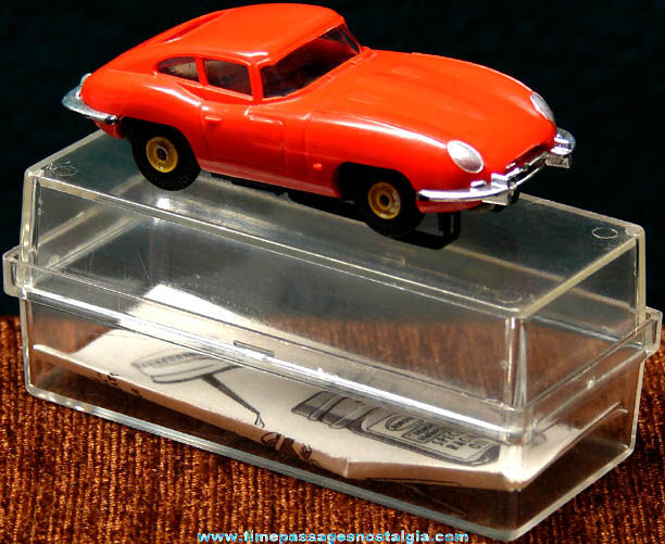 Boxed 1960s Red XKE Jaguar Aurora Slot Car