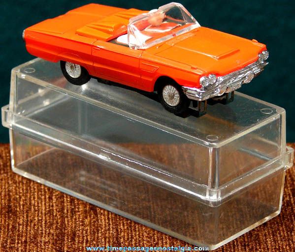 Boxed 1965 Red Ford Thunderbird Convertible Tyco Slot Car