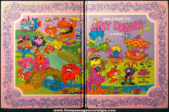 Colorful ©1969 Mattel Welcome to Upsy Downsy Land Character Book