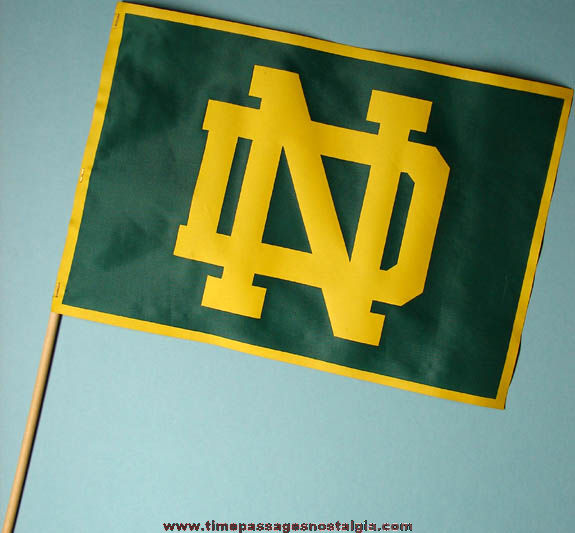 Old University Of Notre Dame Logo Cloth Flag Tpnc