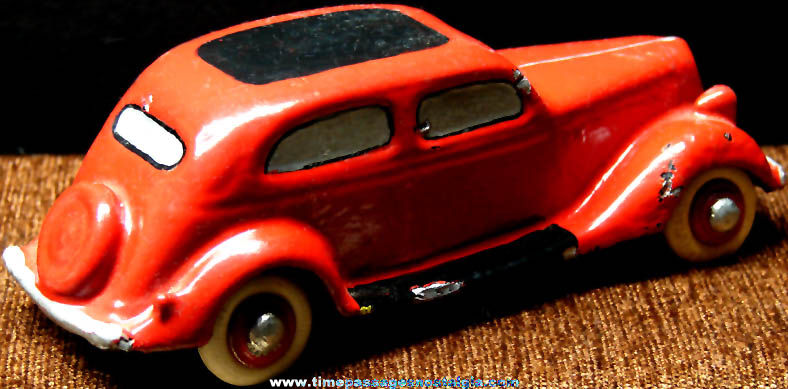 Old Painted Lead Toy Car
