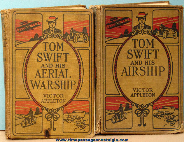 (2) 1910s Tom Swift Airship Hard Back Books