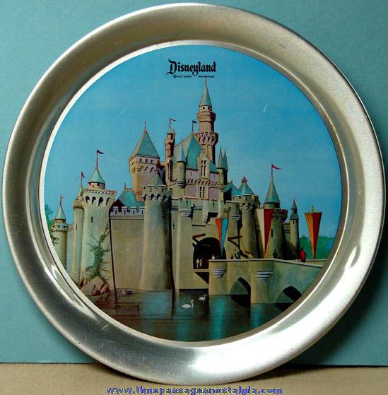 Colorful Old Metal Walt Disney Disneyland Advertising Souvenir Serving Tray