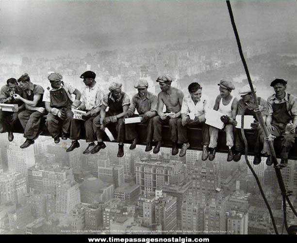 �1932 Lunchtime atop a Skyscraper Ironworkers Photograph