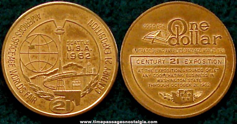 1962 Seattle World's Fair Advertising Souvenir Token Coin