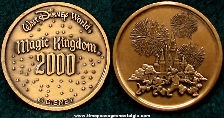 Walt Disney World Millennium Souvenir Commemorative Medal Coin