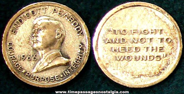 1966 Endicott Peabody Political Campaign Token Coin