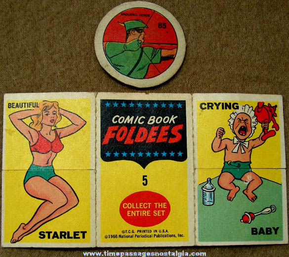 (2) Small Old Green Arrow Comic Book Character Items