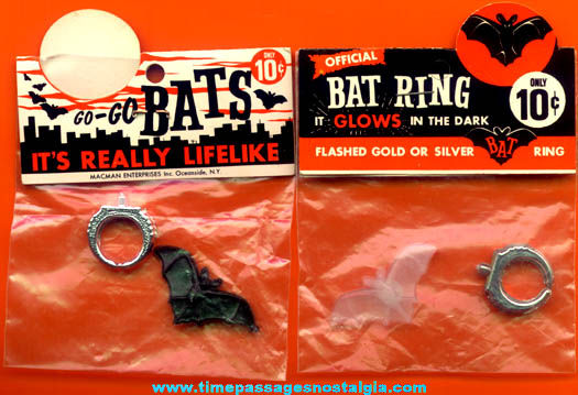 (2) Old Unopened Toy Bat Rings