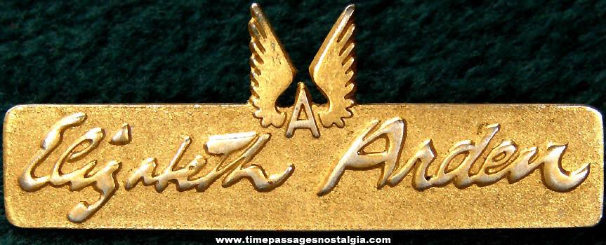Old Metal Elizabeth Arden Advertising Employee Pin