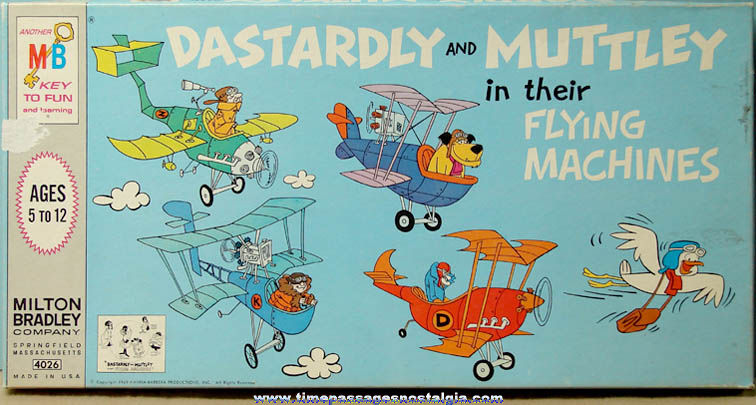 ©1969 Dastardly & Muttley Cartoon Character Board Game