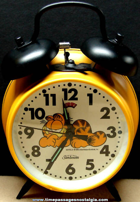 Garfield Cat Comic Strip Character Sunbeam Alarm Clock