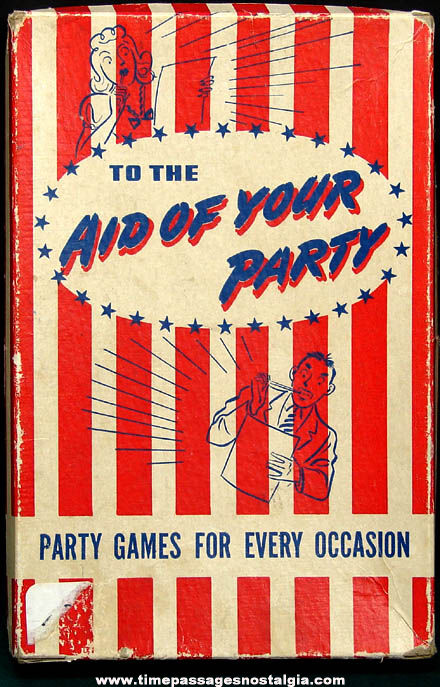 Boxed 1940s Aid of Your Party Game Sheets