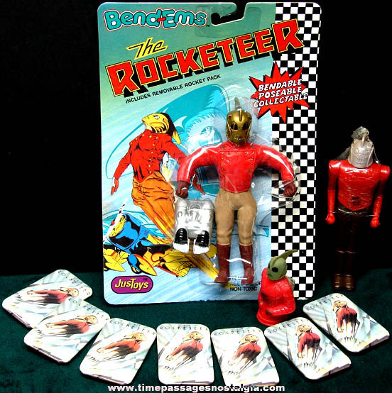 (10) 1991 Walt Disney Rocketeer Movie Character Items