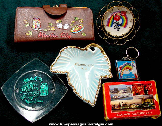 (6) Different Old Atlantic City New Jersey Advertising Souvenir Items
