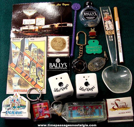 (18) Las Vegas Nevada & Casino Advertising Souvenir Items