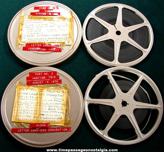 (2) 1970 U.S. Letter Carriers Hawaii Trip 8mm Home Movie Reels
