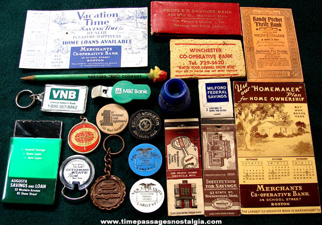 (20) Different Old Bank Advertising Premium Items